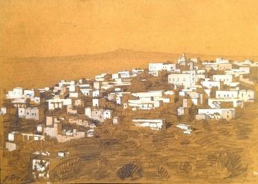 J Mason Reeves Greek Isle 6x9 watercolor 75