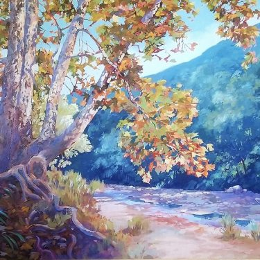 Charles-Munz-Autumn-in-the-Arroyo-36x48-Oil-on-Canvas-995