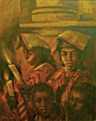 Charles Bragg Candle Ceremony 30x24 oil on canvas