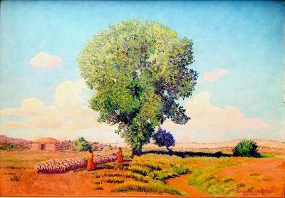 Ferdinand-Burgdorff-New-Mexico-Homestead-16x24-oil-on-board-795-American