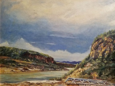 John T Clancy River Bluffs 18x24 oil on canvas 395.00