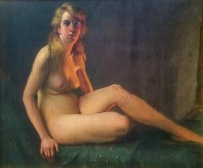 Joseph Tomanek Nude Study 35x29 Oil on Canvas