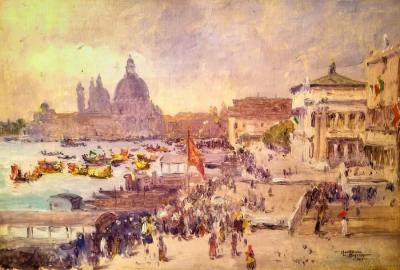 Moore Smith Venice Parade 1905 8 1/2 x 12