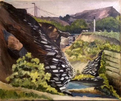Russell Palmer Abandoned Mine 20x24 oil on canvas 295.00