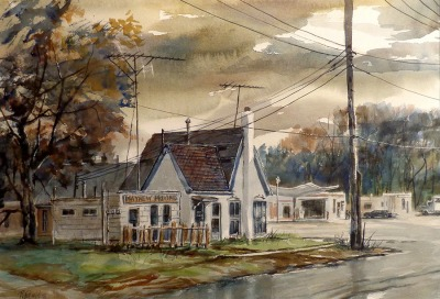 Robert Fifield Mayhew Moving 21x28 Watercolor