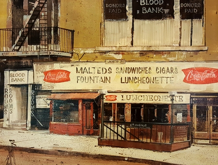8th Avenue Luncheonette 16x20 Oil on Canvas