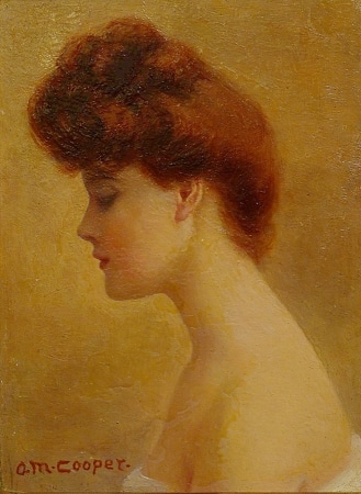 A.M. Cooper The Red Head 6x4 Oil on Board