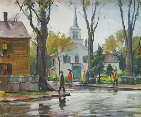 Carl W Peters Rainy Day Cape Ann 20x24 Oil on Canvas