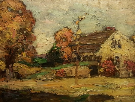 Mary Maude Mason Homestead 8x10 oil on board