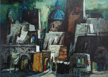 Robert E Wood Florentine X 36x48 acrylic on board