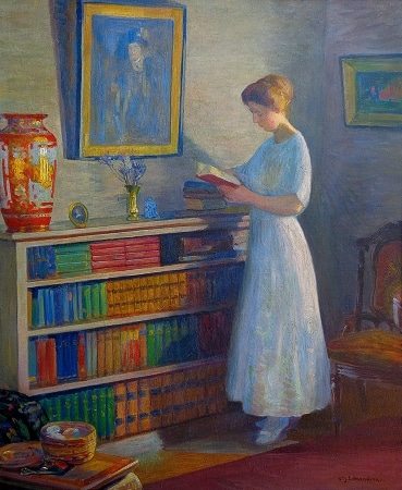 William John Edmundson Lost in a Story 30x24 Oil on Canvas