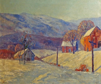 William S. Beeken Vermont Winter 24x30 Oil on Canvas