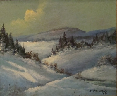 Alfred Mitchell Snow Country 9x12 Oil on Board