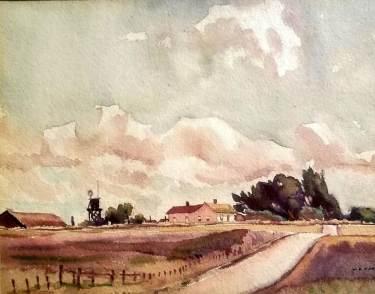 William Ross Cameron Haydenville CA 7x9 Watercolor