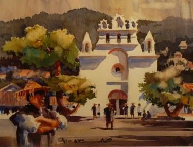 Don O'Neill Mexican Church 20x24 Watercolor