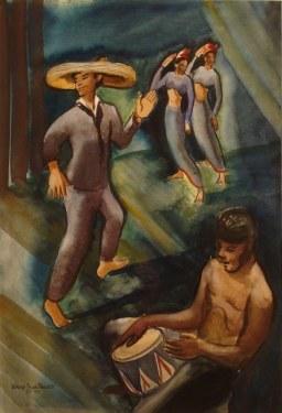 Dorothy Sklar Cuban Night Club 22x16 Watercolor