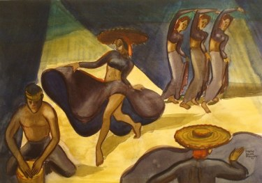 Dorothy Sklar Cuban Night Club II 16x22 Watercolor