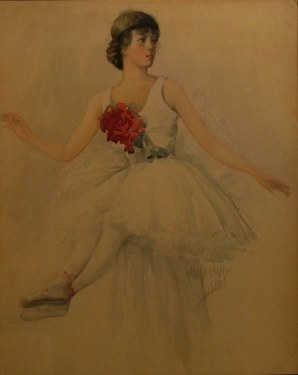 Nell Walker Warner The Ballerina 24x18 Watercolor