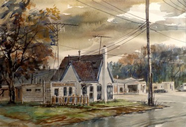 Robert Fifield Mayhew Moving 21x28 Watercolor