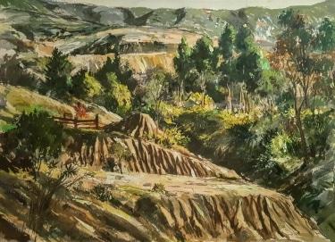 Alexander Ignatiev Laguna Canyon 22x30 watercolor
