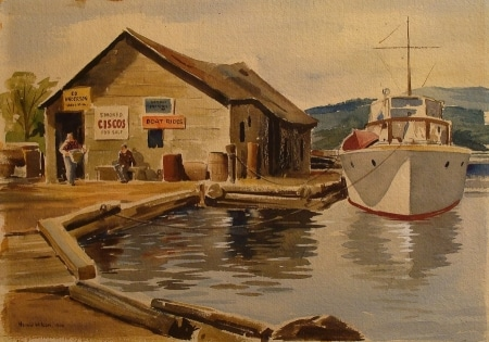Harold Wilson Boat Rides 16x20