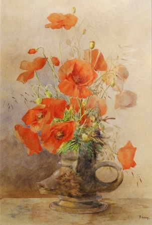 R G Tay California Poppies 20x13 Watercolor