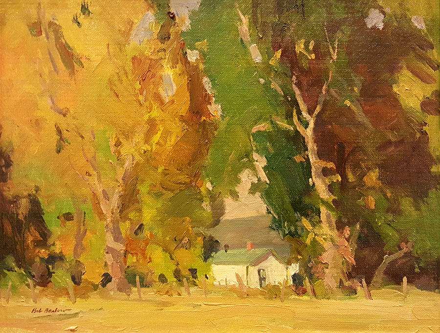 Bob Barlow Santa Fe Fall 9x12 Oil on Board