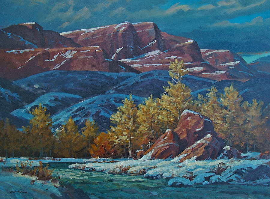 Joseph Holbrook Snow Covered Mesas 18x24 Oil on Canvas