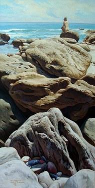 Joseph Holbrook Twin Jewels 51x28 Acrylic on Canvas