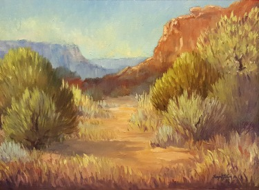 Sonja Tervo Arizona Badlands 9x12 Oil on Board