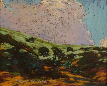 Brad Faegre California Hillside 9x12 Pastel