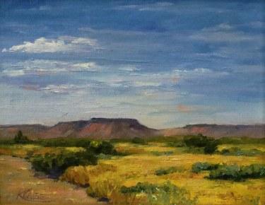 Kendra Page Arizona Mesas 8x10 Oil on Canvas