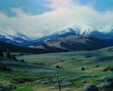 Taylor Lynde May in the Crazies 24x30 Oil on Board