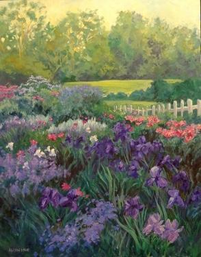 Alison Lowe  Flower garden  30x24 oil on canvas