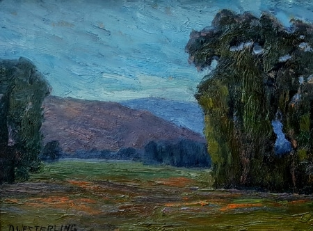 Dennis Westerling California Eucalyptus 9x12 oil on board