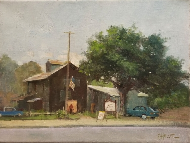 Felice Hrovat The Winery 9x12 Oil on Canvas