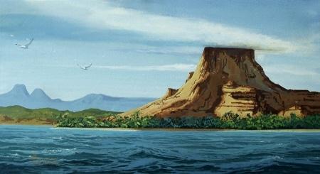Joseph Holbrook Patricia Island 12x20 Mixed Media