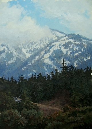 Joseph Holbrook Sierra Snow 14x10 Acrylic on Board