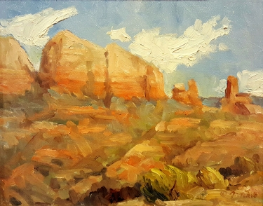 Malcom Tervo Sedona Cliffs 9x12 Oil on Board
