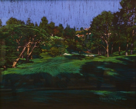 Brad Faegre Golf Green Ahead 20x24 Pastel