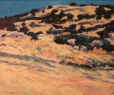 Hans Vanderdonk Dotted Hillside 20x24 Oil on Board