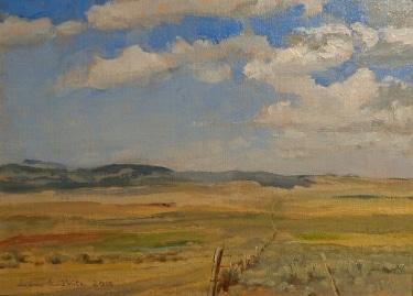 Ian McKibben White, Big Sky Montana, 8x11 Oil on Board