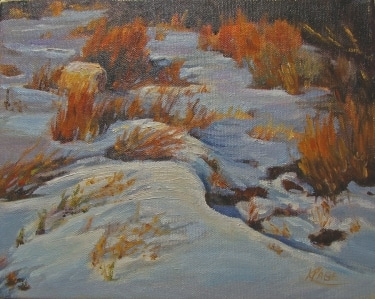 Kendra Page Early Snow 8x10 Oil on Canvas