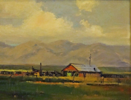 Ron Chesley Yardley's Barn 9x12 Oil on Board