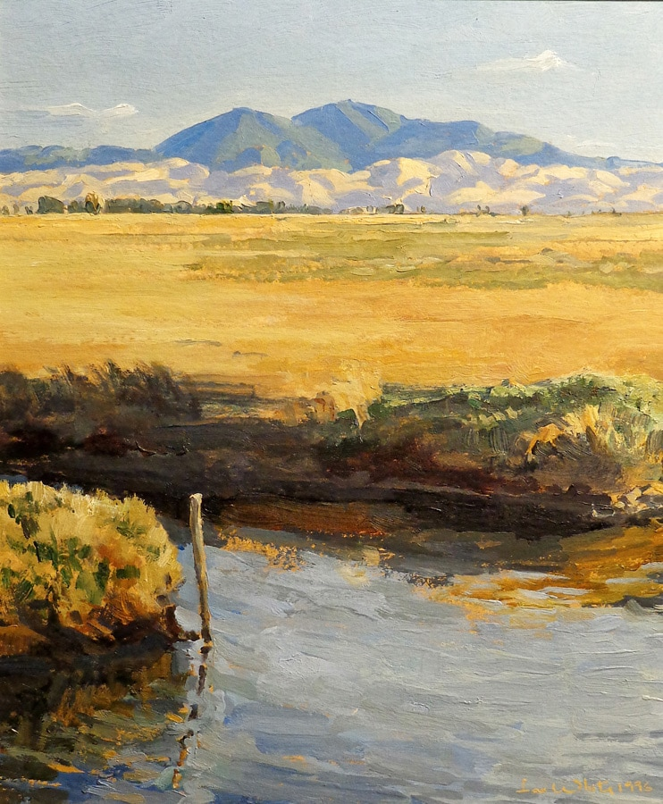 Ian McKibben White, Mount Diablo Grizzly Island, 13x11 Oil on Board
