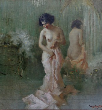 Francesco Longo Mancini  Reflection  20x18 oil on canvas board