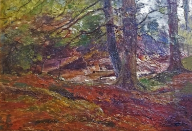 Archibald Kay Into the Woods 12x16 Oil on Canvas
