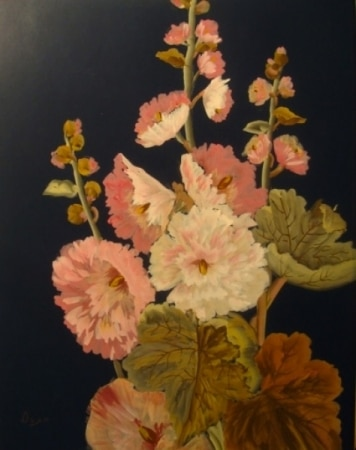 Carl Duxa Flowers 30x22 Gouache