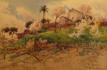 M Lanciani Bonaventura 16x24 Watercolor