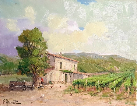 Felice Hrovat The Old Vineyard 11x14 Oil on Canvas